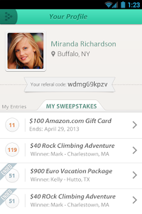 Sweepstakes App - screenshot thumbnail