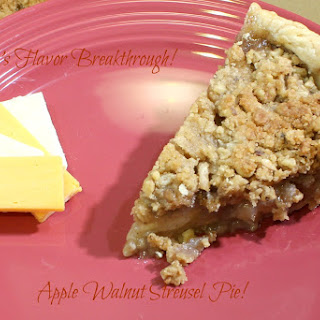Apple Walnut Streusel Pie!