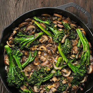 Broccolini And Mushroom Stir-fry.