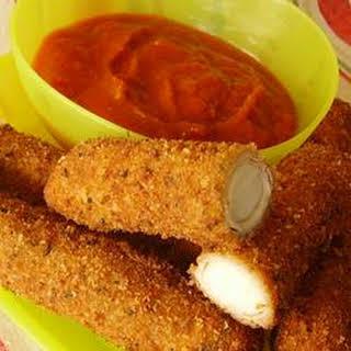 Homemade Mozzarella Sticks.
