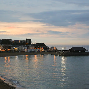 Broadstairs in the evening. by Mark Milham - Landscapes Beaches ( broadstairs, kent, harbour, thanet, sea, beach )