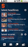 Screenshot of Syracuse University Athletics