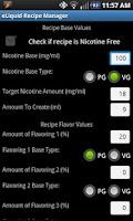 Screenshot of eLiquid Recipe Manager Lite