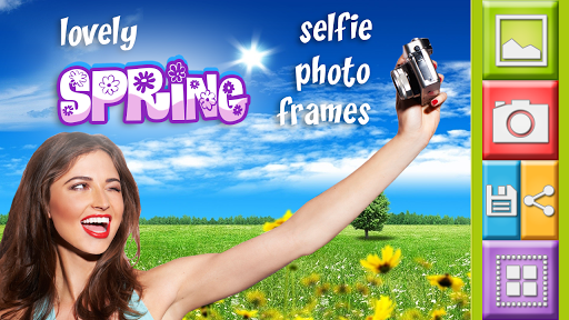 春天 自拍 圖像效果 圖片編輯器 - 風趣的孩子幀