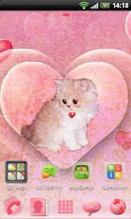 Go Launcher EX Theme Kitty - screenshot thumbnail