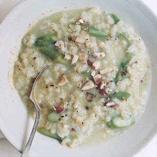 Barley Risotto with Asparagus and Hazelnuts