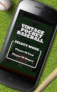 Vintage Pocket Baseball