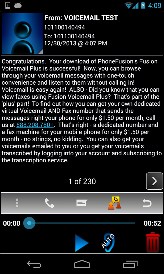 Visual Voicemail Plus - screenshot