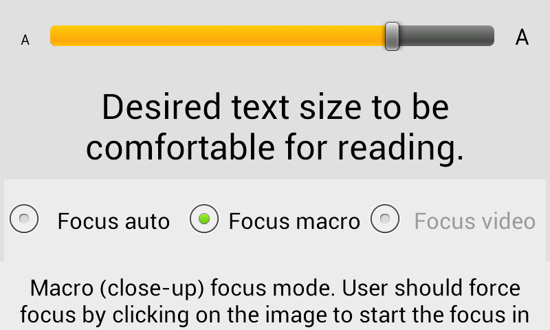 Magnifier Reading glass- screenshot