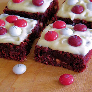 X's & O's Red Velvet Love Brownies
