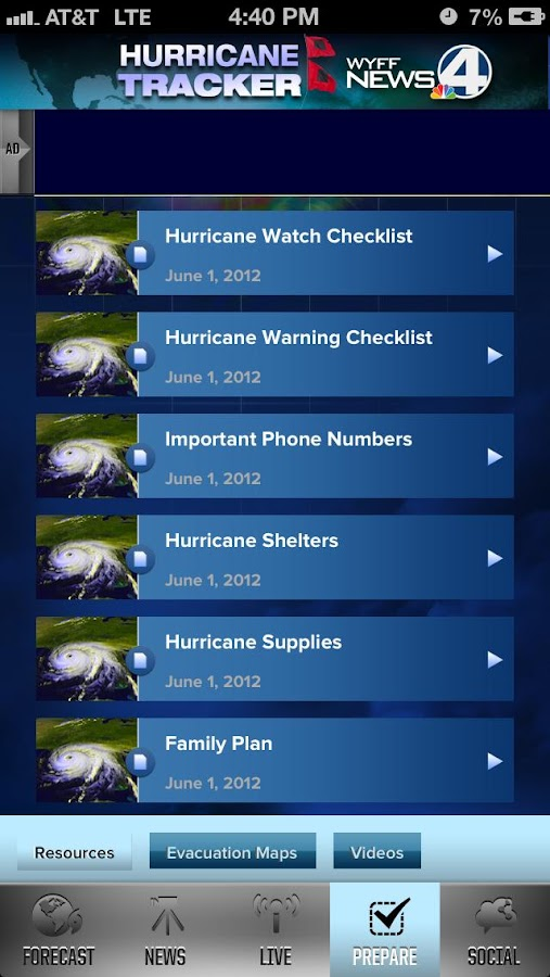Hurricane Tracker WYFF 4 - screenshot