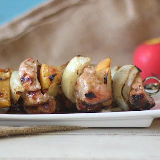 Pork and Apple Shish Kabobs.