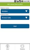 Screenshot of MHD Lístok