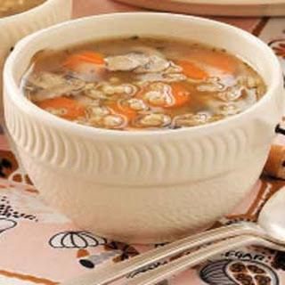Mushroom Barley Soup for Two