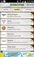 Screenshot of Extra Extra Deals and Coupons