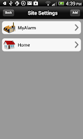 Screenshot of MyAlarm SMS Control