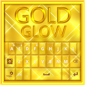 GO Keyboard Gold Glow Theme
