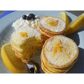 Romantic Lemon Cheesecake Pancakes