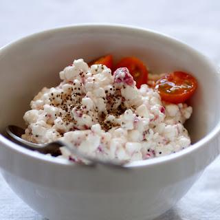 Cottage cheese and Radish Salad.