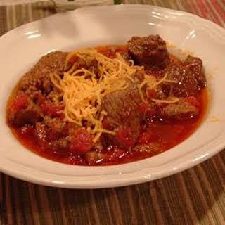 Jen's Hearty Three Meat Chili.