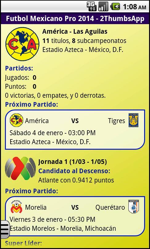 Soccer Mexican League - screenshot