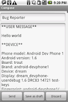 Screenshot of Bug Reporter