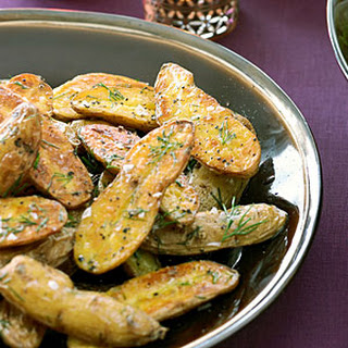 Grilled Fingerlings with Dill