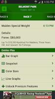 Screenshot of Equibase Today's Racing