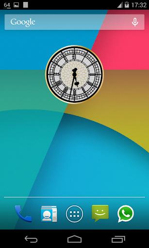 無限の時計ウィジェット