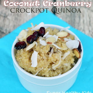 Coconut Cranberry Crockpot Quinoa