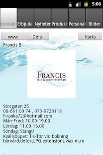 Francis Hår & Skönhetsvård - screenshot thumbnail