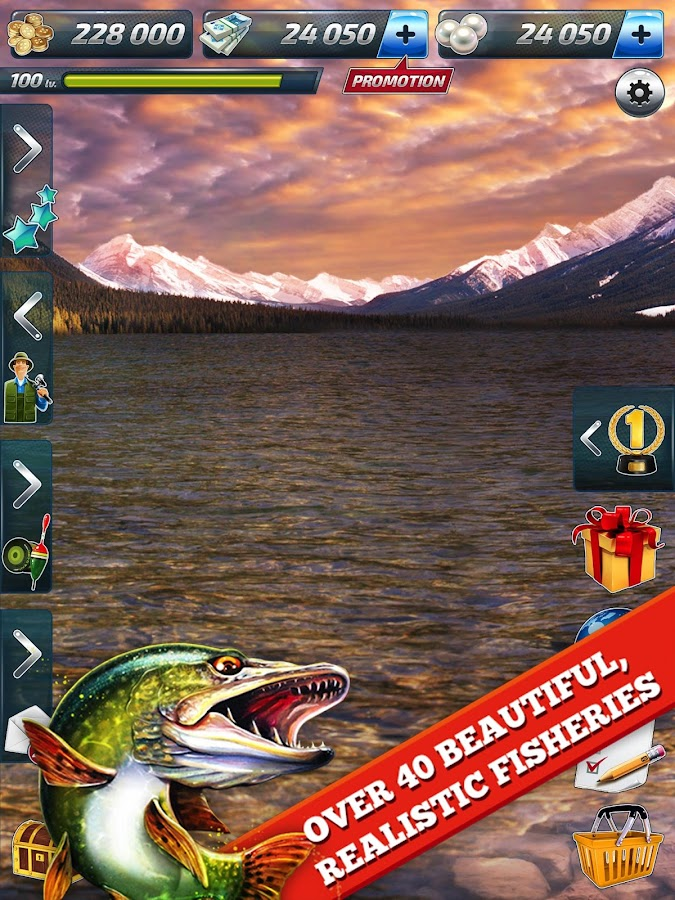 Let 39 s fish sport fishing game android apps on google play for Fishing game android