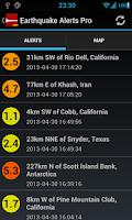 Screenshot of Earthquake Alerts Tracker Pro