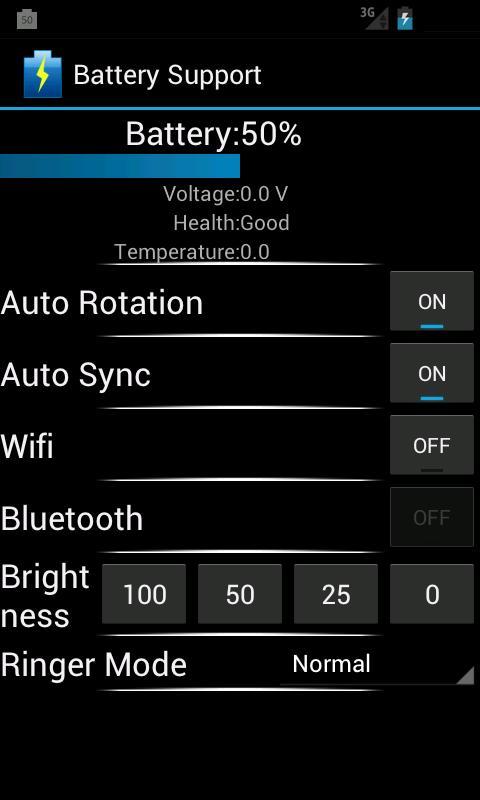 Battery Support- screenshot