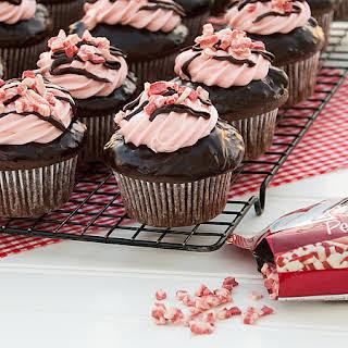 Chocolate Peppermint Twist Cupcakes.