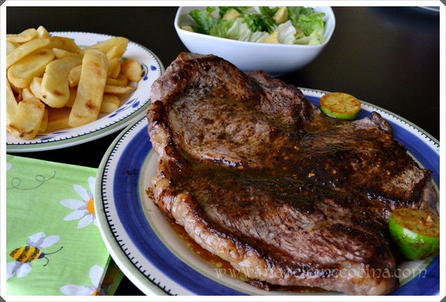 Top Sirloin Steak with Butter, Red Pepper Flakes and Lime Recipe