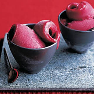Five-Spiced Plum And Red Wine Sorbet.