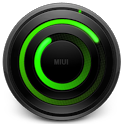 MIUI Spiral GREEN Analog Clock icon