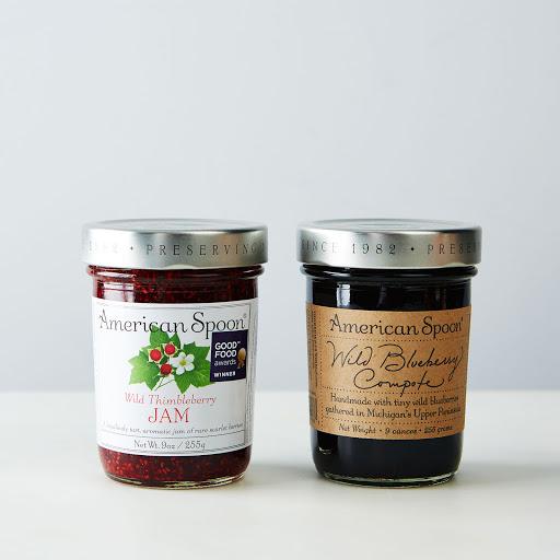 Wild Blueberry Compote & Wild Thimbleberry Jam (2 Jars)