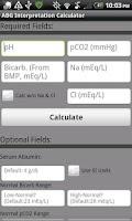 Screenshot of Arterial Blood Gas Interpreter