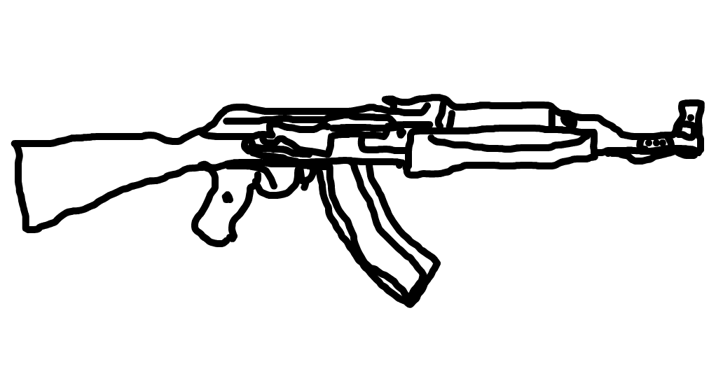Ak 47 drawings sketchport for Ak 47 coloring pages