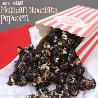 {healthier} Glazed Mexican Chocolate Popcorn