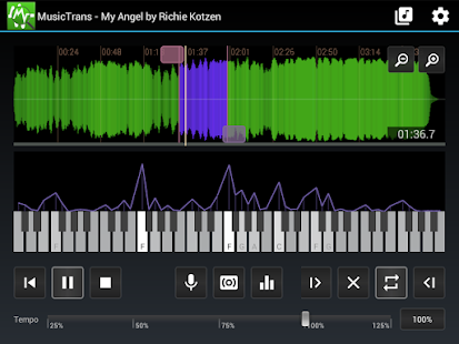 MusicTrans tool for musicians- screenshot thumbnail