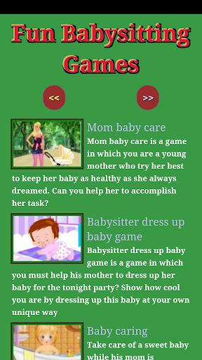 Fun Baby Sitting Games