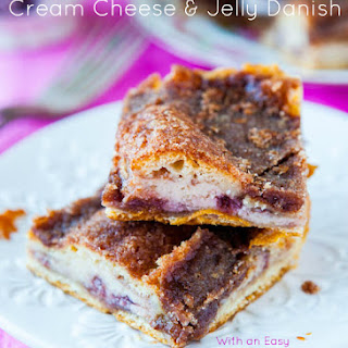 Cinnamon-Sugar Crust Cream Cheese and Jelly Danish Squares