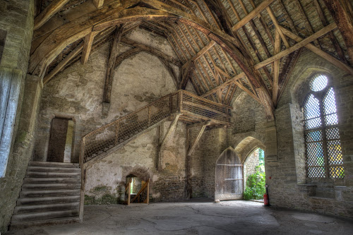 The Great Hall by John Walton - Buildings & Architecture Public & Historical ( hall, wood, beams, stokesay, castle, heritagefocus, shropshire, historic )