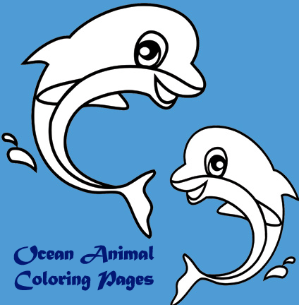 Coloring Pages : Ocean Animals