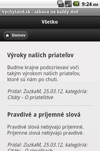 Vychytane.sk- screenshot