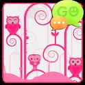 GO SMS Pro Pink Owl Theme icon