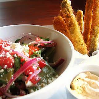 Cactus Fries & Salad.
